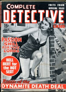 Complete Detective Cases  July 1941- Jack Kirby art- HOT SEAT