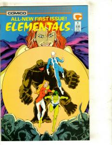 Lot Of 7 Elementals Comico Comic Books # 1 2 3 16 17 War Won Swimsuit 1996 JF17