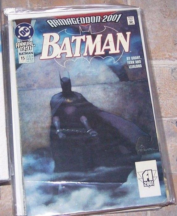 Batman Annual #15 (Jun 1991, DC) armageddon 2001 joker catwoman MONARCH