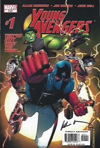 YOUNG AVENGERS #1 SIGHNED HEINBERG NMNT $50.00