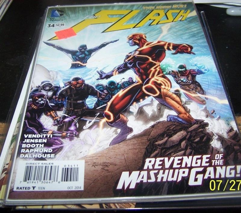 FLASH # 34 (October 2014, DC) NEW 52 + MASHUP GANG / HipComic