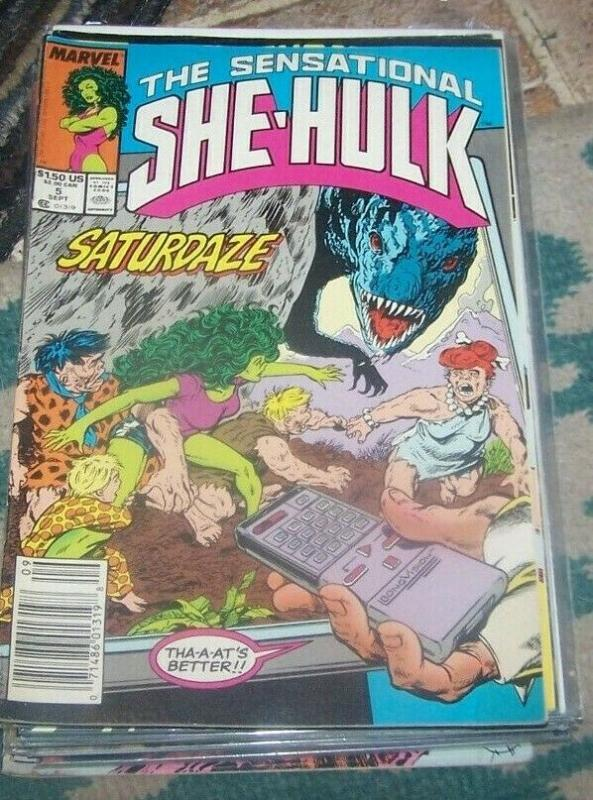 The Sensational She-Hulk # 5 sep 1989, Marvel JEN WALTERS  gamma dinosaurs ?