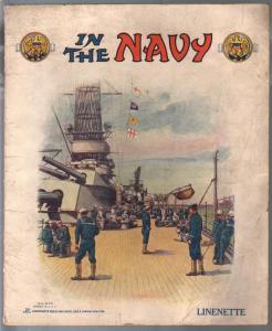 In The Navy #670 1919-Linenette book-children's item-historic Navy art-VG