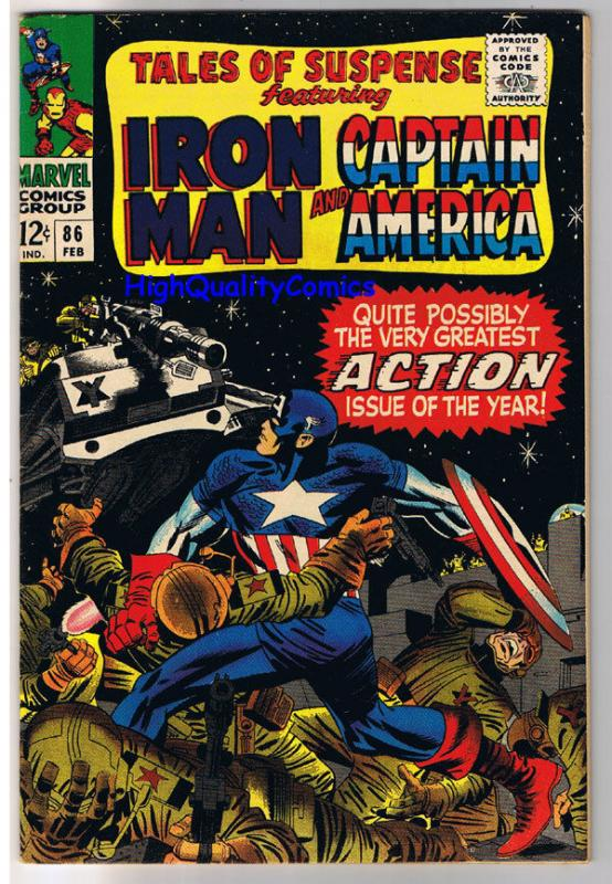 TALES of SUSPENSE #86, VF+, Iron Man, Captain America, 1959, more TOS in store