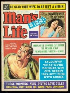MAN'S LIFE MAGAZINE JULY 1964--BARBARA NELLI VG