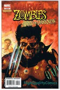 MARVEL ZOMBIES vs ARMY OF DARKNESS #5, NM-, Arthur Suydam, 2007, more in store
