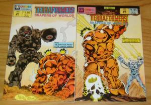 TerraFormers: Shapers of Worlds #1-2 VF/NM complete series KELLEY JONES set lot