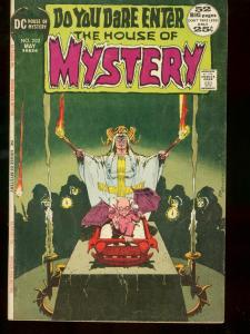 HOUSE OF MYSTERY #202 1972 BLACK MASS DEMON CHILD COVER VG