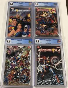 Jla Justice League Of America Avengers 1 2 3 4 1-4 Cgc 9.8 White Pgs Dc Marvel