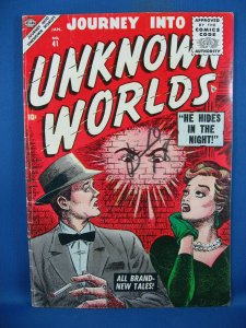Journey into Unknown Worlds #41 (Jan 1956, Marvel) VG F ATLAS MANEELY