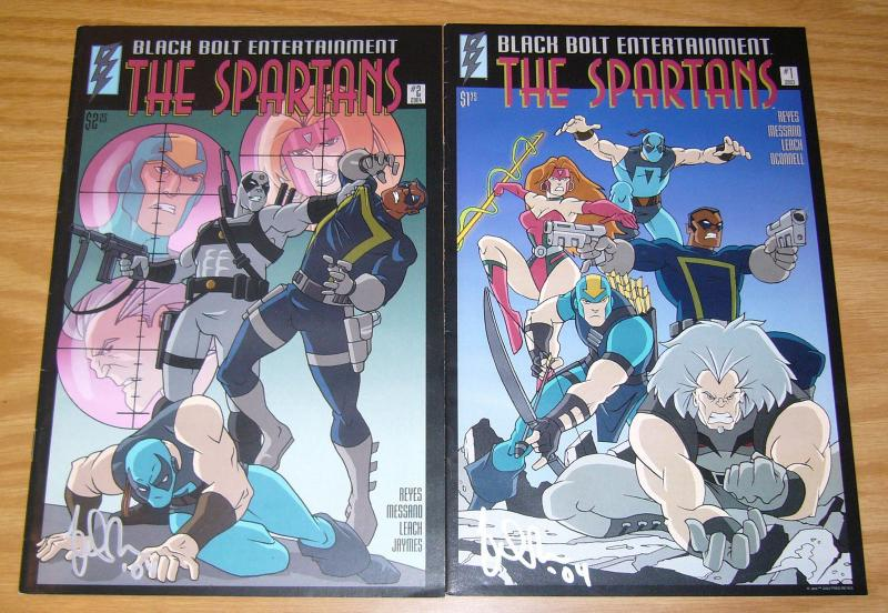 the Spartans #1-2 FN/VF complete series - black bolt comics  signed set lot 2004
