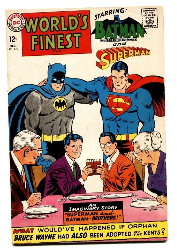 WORLD'S FINEST #172 comic book DC-SUPERMAN-BATMAN