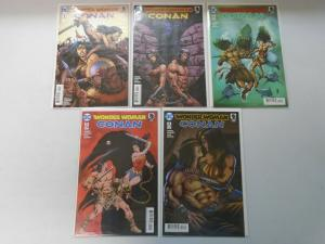 Wonder Woman Conan set #1-6 with some variants 9 different 8.0/VF (2017)
