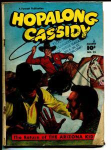 Hopalong Cassidy #22 1948-Fawcett-William S Boyd-Arizona Kid-CC Beck-G