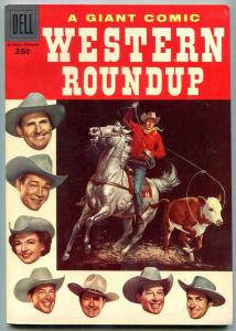 WESTERN ROUNDUP #16 1954-DELL GIANT-ROY ROGERS DALE EVAN VF