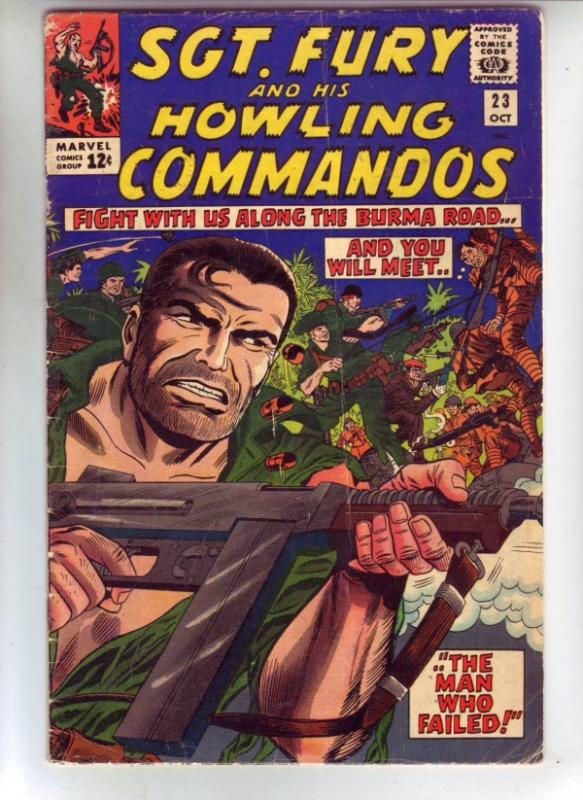 Sgt. Fury and His Howling Commandos #23 (Oct-65) VG Mid-Grade Sgt. Fury, Dum ...