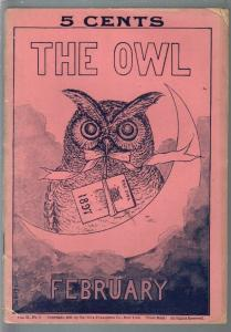 The Owl 2/1897-5¢ cover price-pulp magazine forerunner-unique-VG