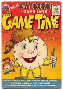 It's Game Time #1 195- Very rare comic- Davy Crockett VG-
