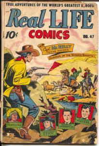 Real Life #47 1948-Nedor-Alex Schomburg-Texas Rangers-George Gershwin-G-