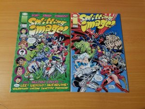 Splitting Image! 1-2 Complete Set Run! ~ NEAR MINT NM ~ 1993 Image Comics