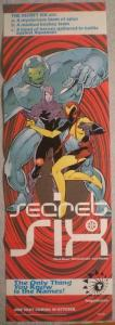 TANGENT SECRET SIX Promo poster, 11x34, 1997, Unused, more Promos in store