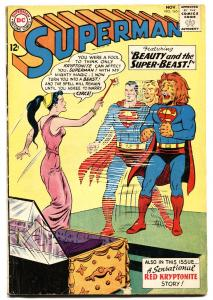 SUPERMAN #165 1963-DC-Red Kryptonite story-Silver-Age