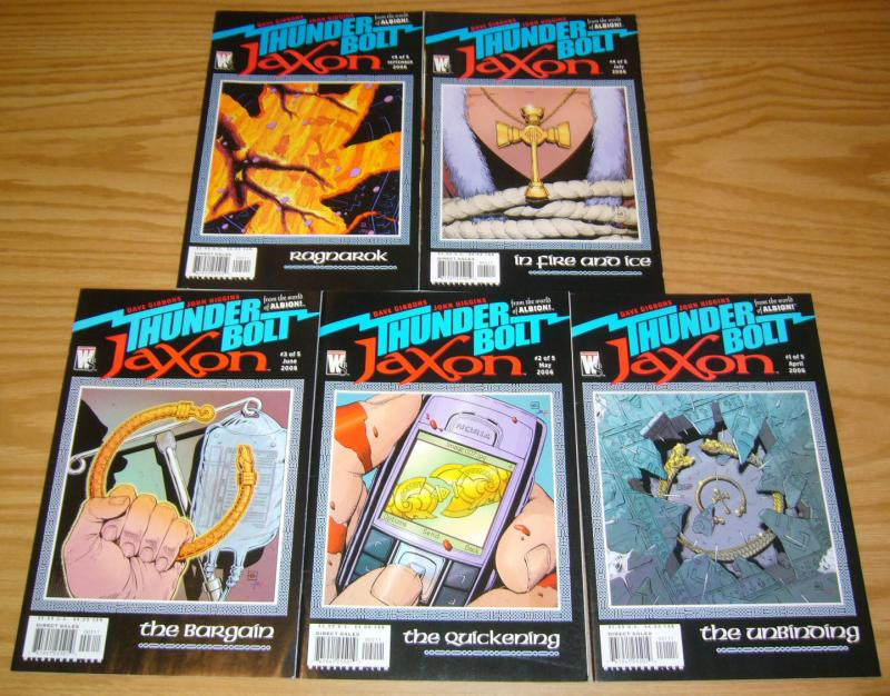 Thunderbolt Jaxon #1-5 VF/NM complete series DAVE GIBBONS wildstorm set albion