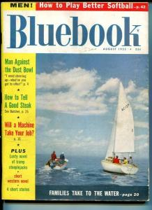 BLUE BOOK PULP-AUGUST-1955-G/VG-KNOPF COVER-HARTLEY-TURNER-KEITH G/VG