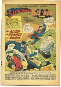 COVERLESS: World's Finest Comics #110 DC 1959 Batman Superman Robin Dick Sprang