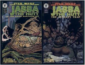 STAR WARS JABBA THE HUTT  SET OF TWO ONE SHOTS