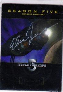 Autographed Babylon 5 Season Five Promotional Card Late S. Furst