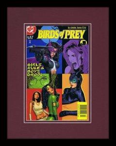 DC Birds of Prey #67 Framed 11x14 Repro Cover Display Catwoman GGA