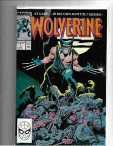 WOLVERINE #1 - (VF/NM) - 1988 - 1ST SOLO SERIES - HIGH GRADE COPPER AGE KEY
