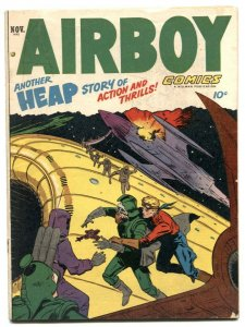 Airboy Comics Vol 9 #10 1952- Princeton v Rugers football VG