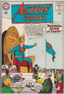 Action Comics #311 (Apr-64) VF+ High-Grade Superman, Supergirl