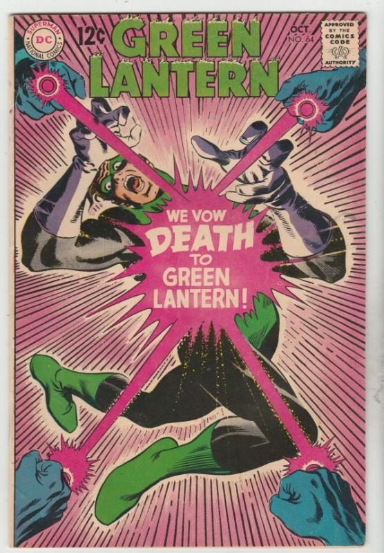 Green Lantern #64 (Oct-68) VF/NM High-Grade Green Lantern