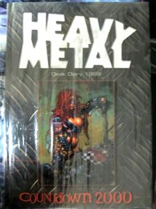 Heavy Metal Desk Diary 1999: Countdown to 2000 Corben, Manara, Sorayama++++