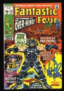 Fantastic Four #113 FN/VF 7.0 Marvel Comics 1st Overmind!
