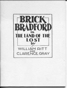 Brick Bradford In The Land of The Lost 1981-1935 comic strip reprints-VF