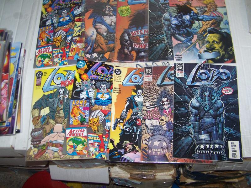 lot of 10 lobo comics +Lobo's Back #1 portrait of a victim  convention special