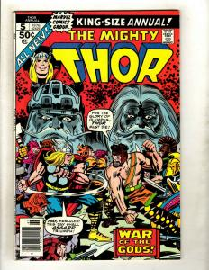 Lot Of 5 Mighty Thor Marvel Comic Books ANNUALS # 5 6 7 8 9 Guardians Loki GK4