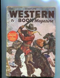 COMPLETE WESTERN PULP-FEB-1935-FIGHT WOLVES-HOPPALONG C VG/FN