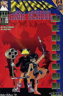 Ninja High School Yearbook #5 VF/NM; Malibu | save on shipping - details inside
