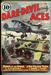 DARE-DEVIL ACES 06/1937-POPULAR PUBS-RED FALCON-AVIATION PULP-pr/fr