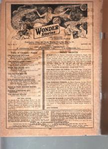 WONDER STORIES 1930 AUG-FUTURISTIC-BARGAIN-SCI FI PULP! FR