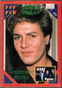 Pop Wow #161980's-Duran Duran-poster magazine-printed in UK-FN