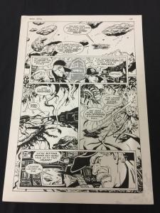 Captain Cosmos Page 25 Original Art Joe Stanton Nicola Cuti Space Opera