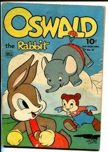 Oswald The Rabbit Four Color Comics #67 1945-Dell-Elephant-parachute-VG-