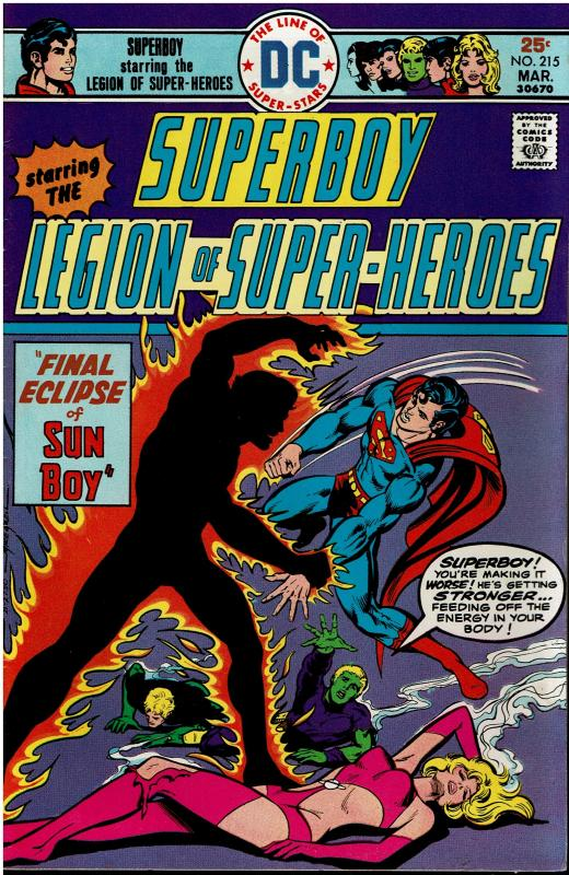Superboy and the Legion of Super Heroes #215, 7.0 or better