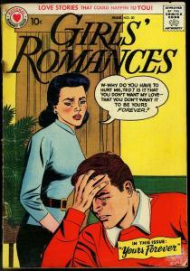 GIRLS' ROMANCES #50 1958-DC COMIC-GIRL WITH TEARS-LOVE! FR